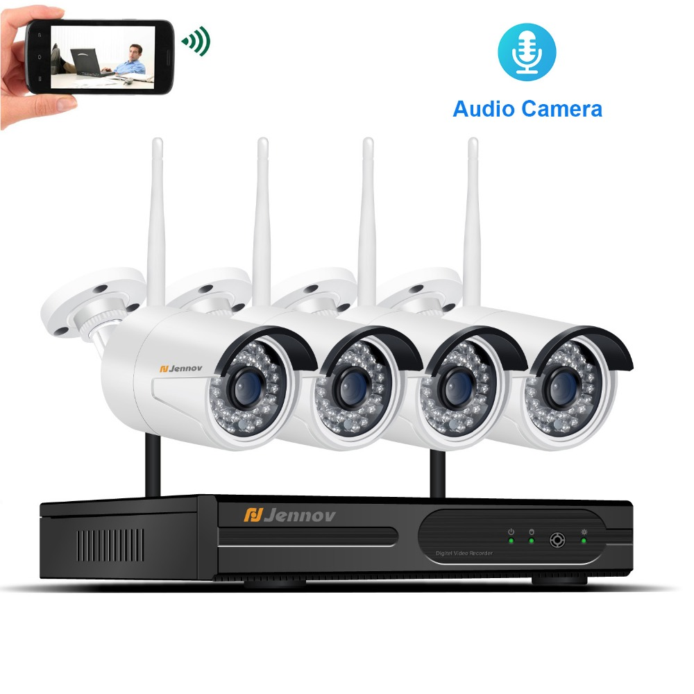 Audio Record Home Wireless Security CCTV IP Camera System Video Outdoor Surveillance Kits 960P 1.3MP Wi-fi Camera With 4CH NVR