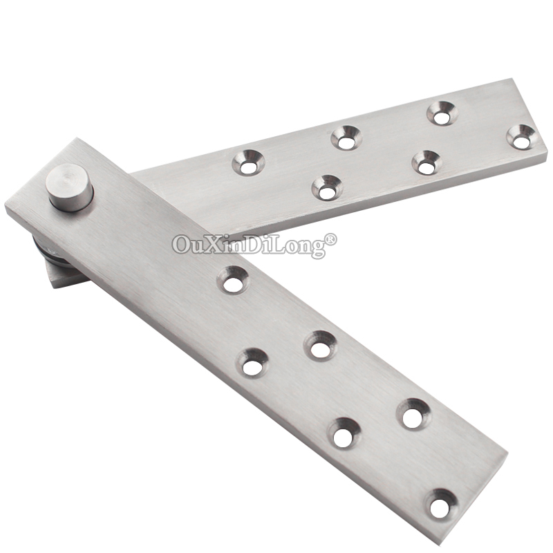 Top Quality 2Sets Stainless Steel Heavy Duty Door Pivot Hinges 360 Degree Rotary Hinges Wood Door Hidden Hinges Install Up&Down hot 2pcs stainless steel heavy duty pivot door hinges 360 degree up and down rotary hinges wood door hidden hinges
