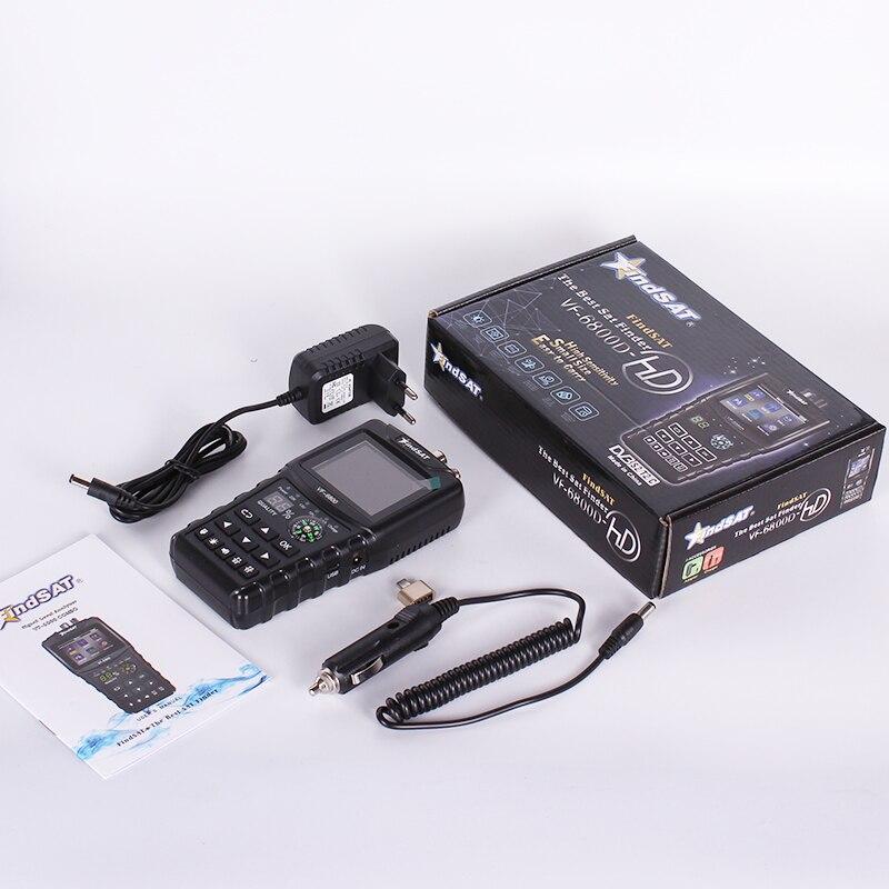 S2 Jaimenalin VF-6800 Satelliten Finder Messger?T Unterst/üTzung DVB-T2 C SatFinder Messger?T f/ür Satelliten TV Empf?Nger Dvb T2 Sat Finder EU Stecker