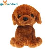 BOOKFONG 25 CM Simulation golden retriever en peluche jouet en peluche poupée animaux mignon chiot poupée cadeau d'anniversaire pour les enfants garçons