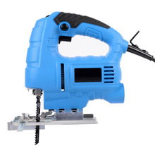 Electric Curve Saw Woodworking Electric Jigsaw Metal Wood Gypsum Board Cutting Tool  Wooden Processing Guide ruler + 2 saw blade doersupp 220v 650w electric scroll sweep saw 500 3000r min power tool for wood metal cutting tool universal electric saw