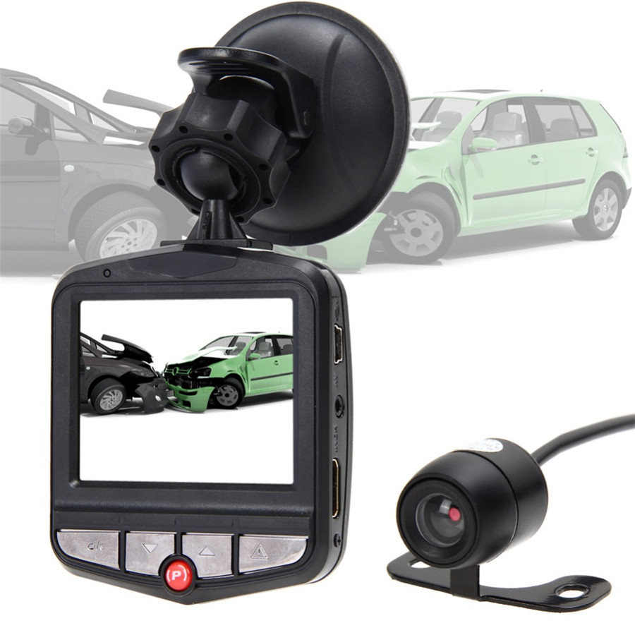 Universal HD Suction Car Vehicle Auto DVR Dual Camera Lens Full Video Night Vision Multi-Language