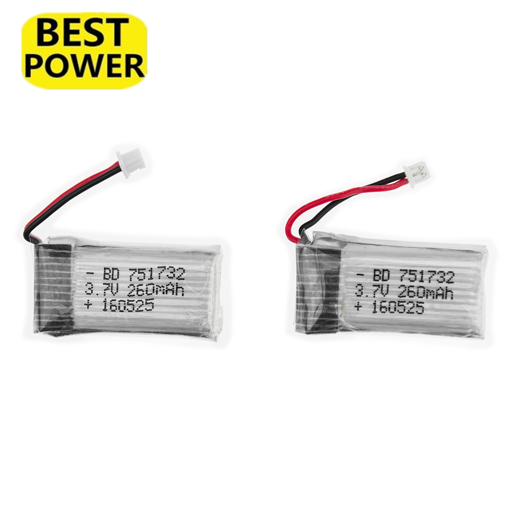 1 2 3 pcs Upgrade <font><b>3.7V</b></font> 260mAh <font><b>Lipo</b></font> <font><b>Batteries</b></font> <font><b>battery</b></font> for RC H20 Mini RC Quadcopter image