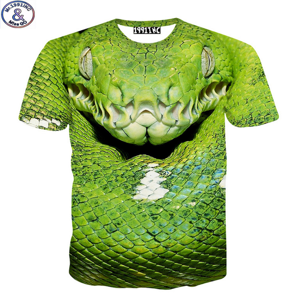 Mr.1991 yeni 12-20 yıl büyük boys t-shirt 3D viper baskılı kısa - Çocuk Giyim
