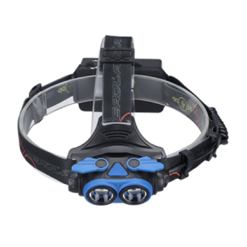 2 * T6 LED, Ultra Brightness Headlight, Rotating Zoom, Outdoor Rechargeable Head Lamp, with 4 Light Modes, Long Shot Camping Lam