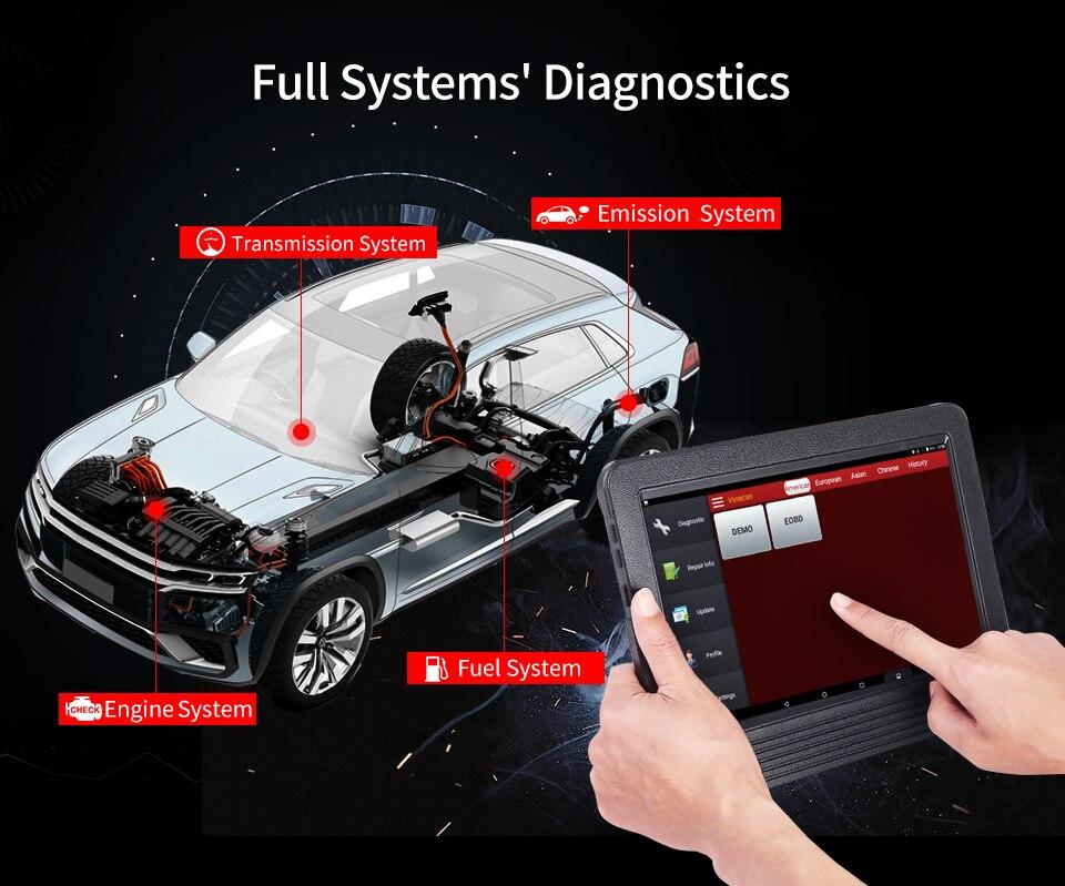 Image 3 - Launch X431 V + V Plus 10,1 дюймов авто диагностические инструменты полная система OBD2 автомобильный сканер Профессиональный Автомобильный сканер PK X 431 Pro3-in Анализатор двигателя from Автомобили и мотоциклы on