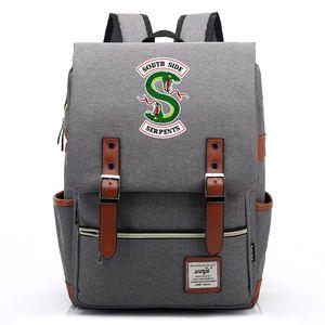 Image 3 - 스네이크 팝의 chocklit shoppe Riverdale 소년 소녀 학생 학교 가방 청소년 Schoolbags 캔버스 여성 Bagpack 남성 벨트 배낭