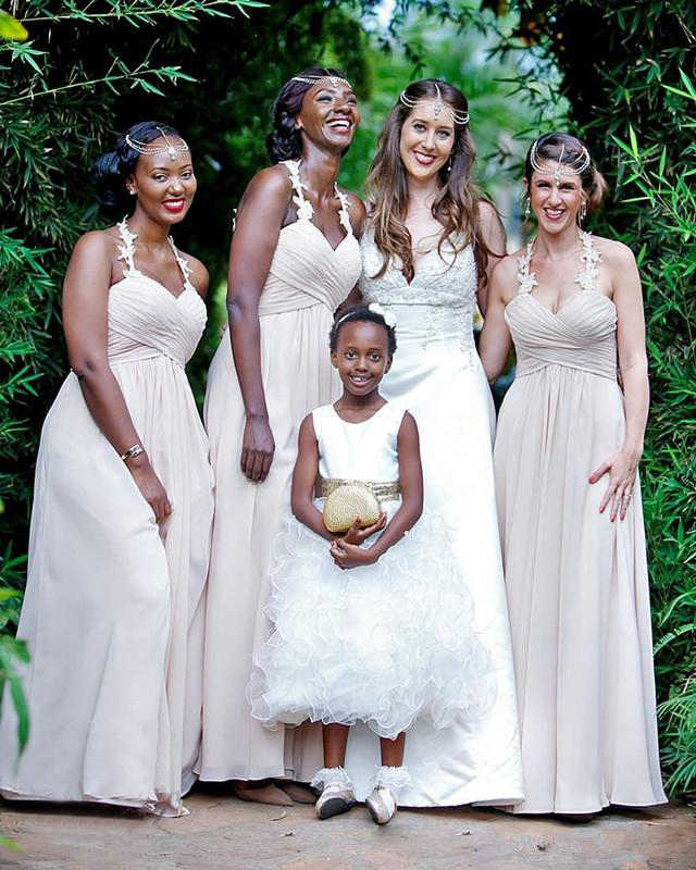 [מחוייט] אונליין שושבינה שמלות 2019 שרוולים מתוקה שיפון חתונת אורח עוזרת של כבוד שמלת מפלגה לנשים