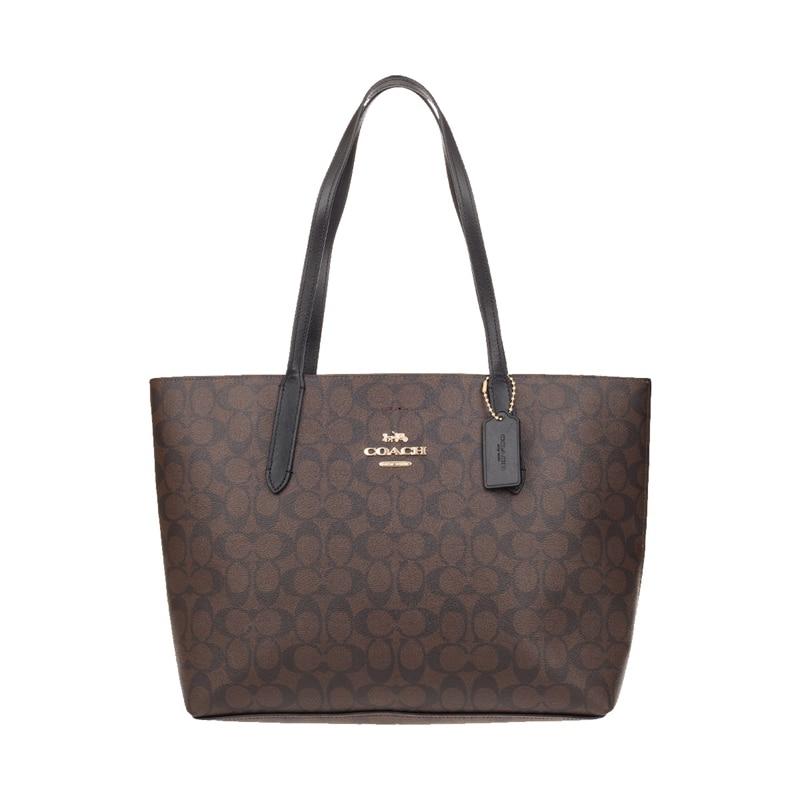 Authentic Original & Brand New Coach Avenue Tote Handbag In Signature Canvas Women's Bag F67108 Womens' Pouch