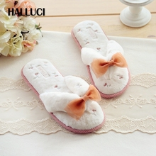 HALLUCI Summer Japanese kawaii Sweet fruit home flip flops women shoes slippers simple Silky velvet sandals ladies flat shoes