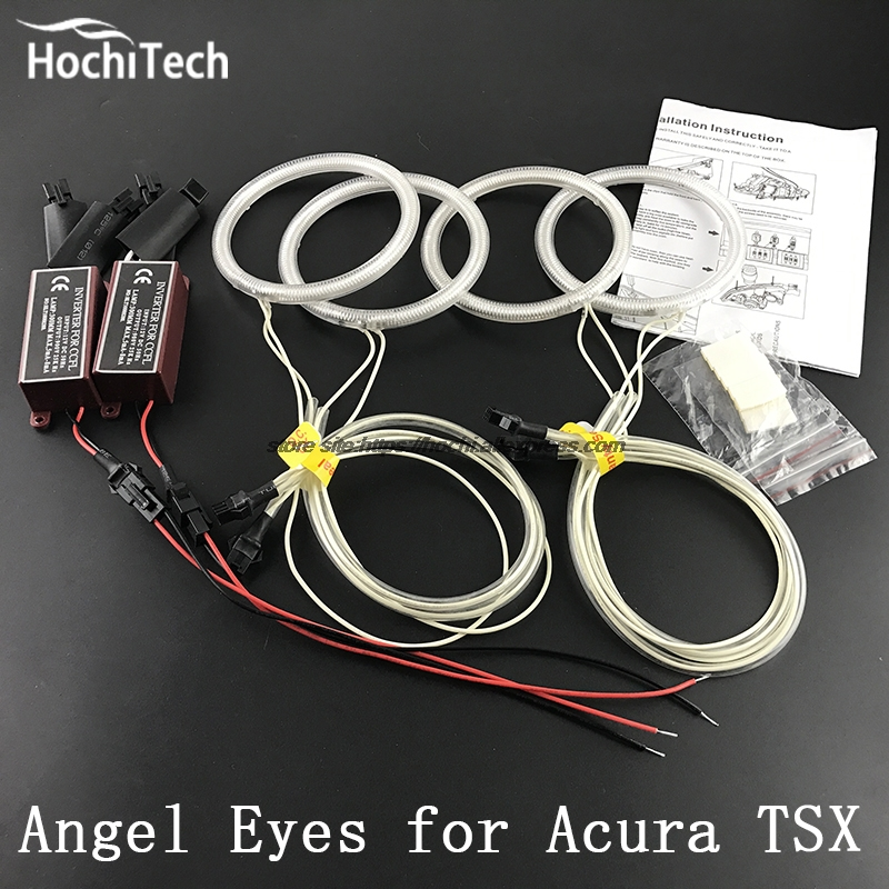 HochiTech ccfl angel eyes kit white 6000k ccfl halo rings headlight for Acura TSX 2009 2010 2011 2012 for uaz patriot ccfl angel eyes rings kit non projector halo rings car eyes free shipping