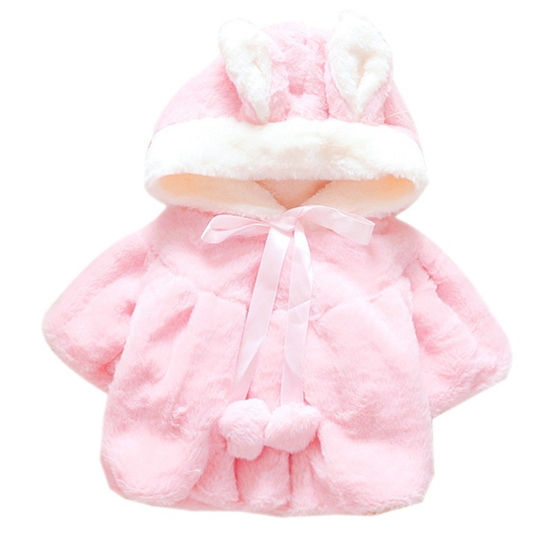 Cartoon Cute Kids Clothing Warm Lovely Winter Little Bunnty Shawl Wind Cloak Cape Infant Toddler Thick Fur Clothes Flannel Coat|Jackets & Coats| |  - title=