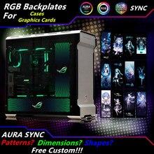 사용자 정의 PC 케이스 사이드 패널 GPU 백플레인 RGB 신앙 라이트 케이스/그래픽 카드 용 다채로운/RGB /D RGB 오라 스 트리머 백 플레이트