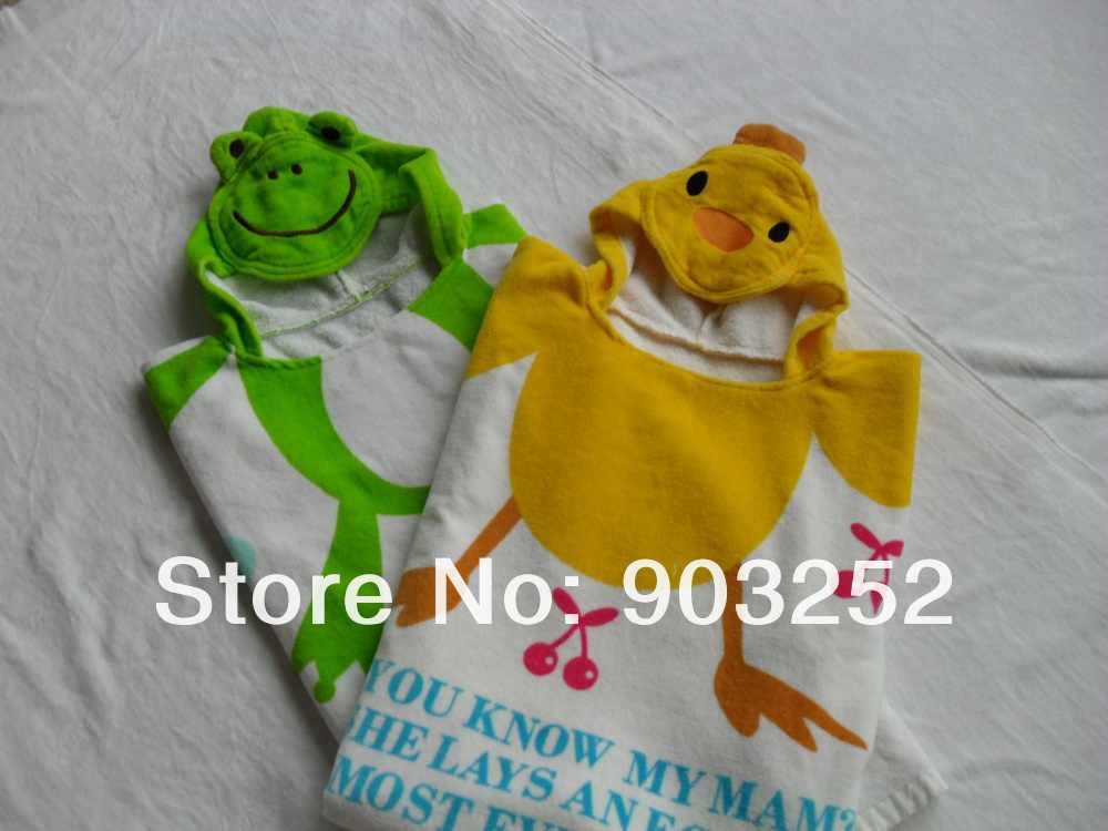 12 цветов, детский банный халат с капюшоном и рисунком животных, Детское Пончо с героями мультфильмов, детский купальный халат с персонажами, душевое полотенце для новорожденного