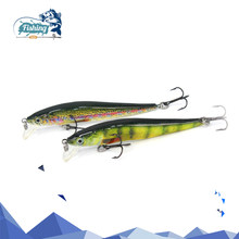 1PCS Minnow Fishing Lures 6cm 2.4g Hard Jointed Bait 4Color Plastic Crankbait with 2 Treble Hooks Fishing Tackle Lure Pesca Isca(China)