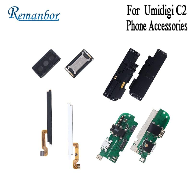 Remanbor para UMI Umidigi C2 enchufe USB de carga con Cable Flex PCB  auricular de volumen de