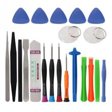20 in 1 Portable Mobile Phone Repair Tools Kit Pry Opening Tool Screwdriver Tweezers Set for iPhone Samsung Xiaomi