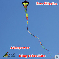 Free Shipping New Listing High Quality 15 m Power Snake Kite /Cobra Kites With Handle Line Good Flying