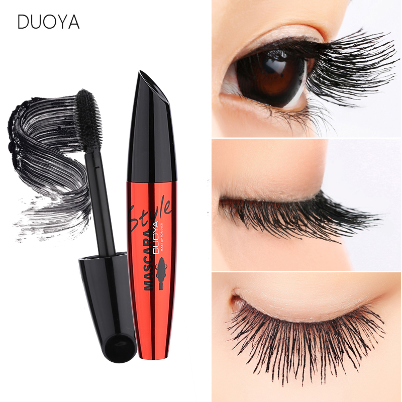 DUOYA 3D Fiber Lashes Mascara Volume Eyelashes Korea Cosmetic Brand Makeup Waterproof Curling Thick Lengthening Black Mascaras