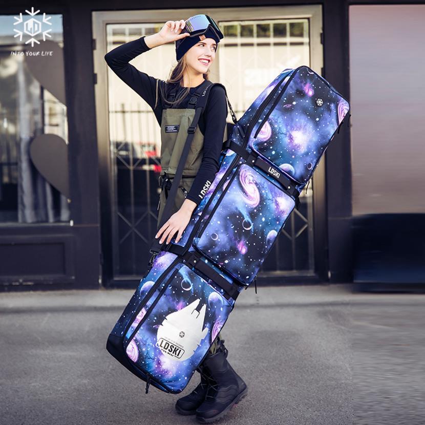 Sky star couleur sac de Snowboard haute capacité Skis Double ou simple planche sac à dos/pas de roues résistant à l'usure étanche a5260