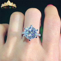 100% 18K 750Au Gold Moissanite Diamond Ring D color VVS With national certificate MO 00101