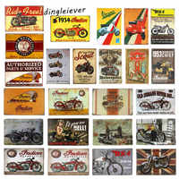 DL-Ride free Metal sign wall Decor Garage Shop Bar living room wall sticker painting