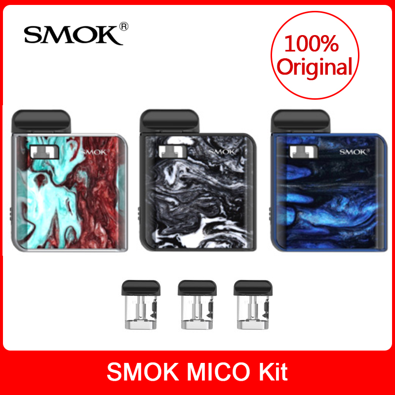 Original SMOK MICO Kit With Built In 700mAh Battery +Cartridge Pod Coil E-cigarette Mico Pod Vaporizer Kit VS Novo/infinix Vape