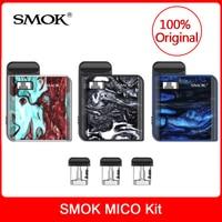 Original SMOK MICO Kit with built in 700mAh Battery +Cartridge Pod Coil Electronic Cigarette mico pod kit VS novo/infinix vape