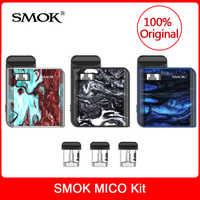 Original smok mico kit com construído em 700 mah bateria + cartucho pod bobina e-cigarro mico pod vaporizador kit vs novo/infinix vape