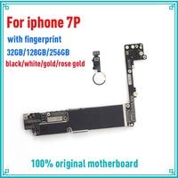 32 ГБ/256 ГБ/128 ГБ для iphone 7 Plus материнская плата с сенсорным ID, оригинальная разблокированная для iphone 7 Plus материнская плата с бесплатной iCloud