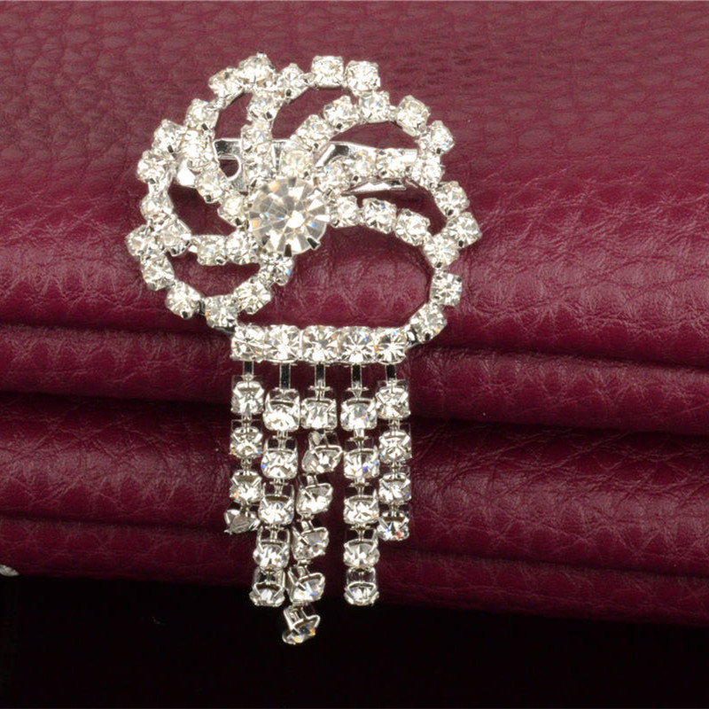 19dd7f237aa8e 2.75inch large brooches rhinestone brooch cheap big collar brooches for  dresses hijab pins brooches rhinestone crown pins