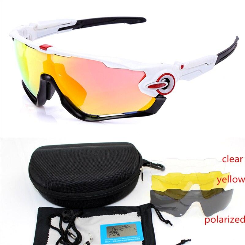 4 lens JBR Polarized Cycling Sunglasses Men TR90 Outdoor Sports