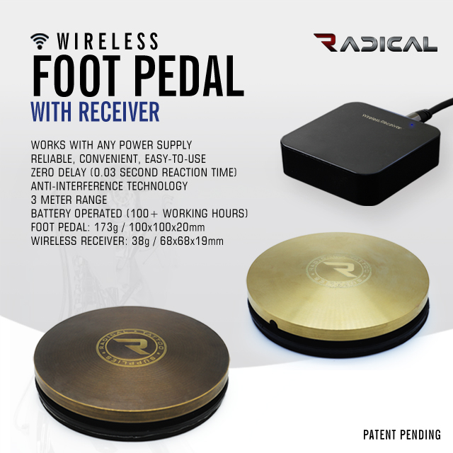 ADICAL WIRELESS FOOT PEDAL WITH RECEIVER