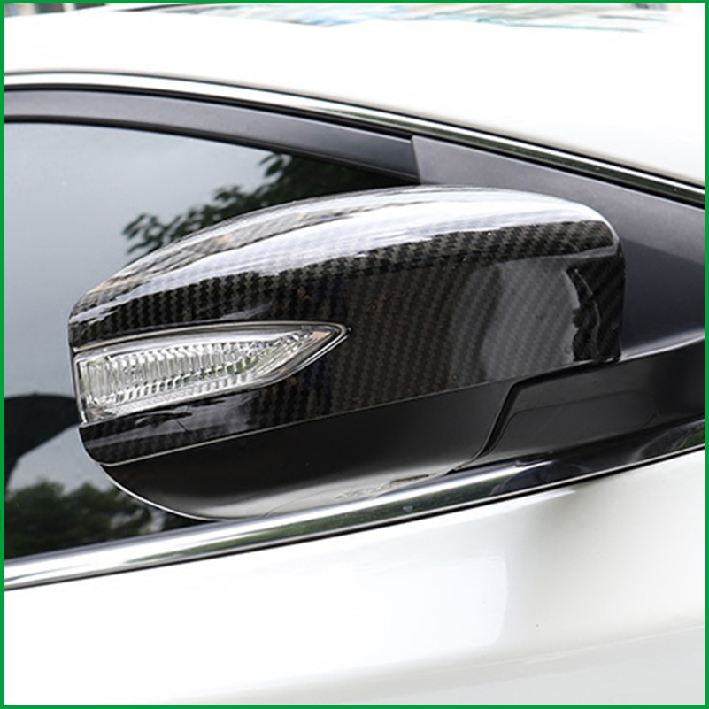 FOR NISSAN Sentra / Sylphy 2012 2013 2014 2015 2016 2017 ABS Carbon fibre Print REAR SIDE VIEW WING REARVIEW MIRROR COVER TRIM-in Chromium Styling from Automobiles & Motorcycles    3