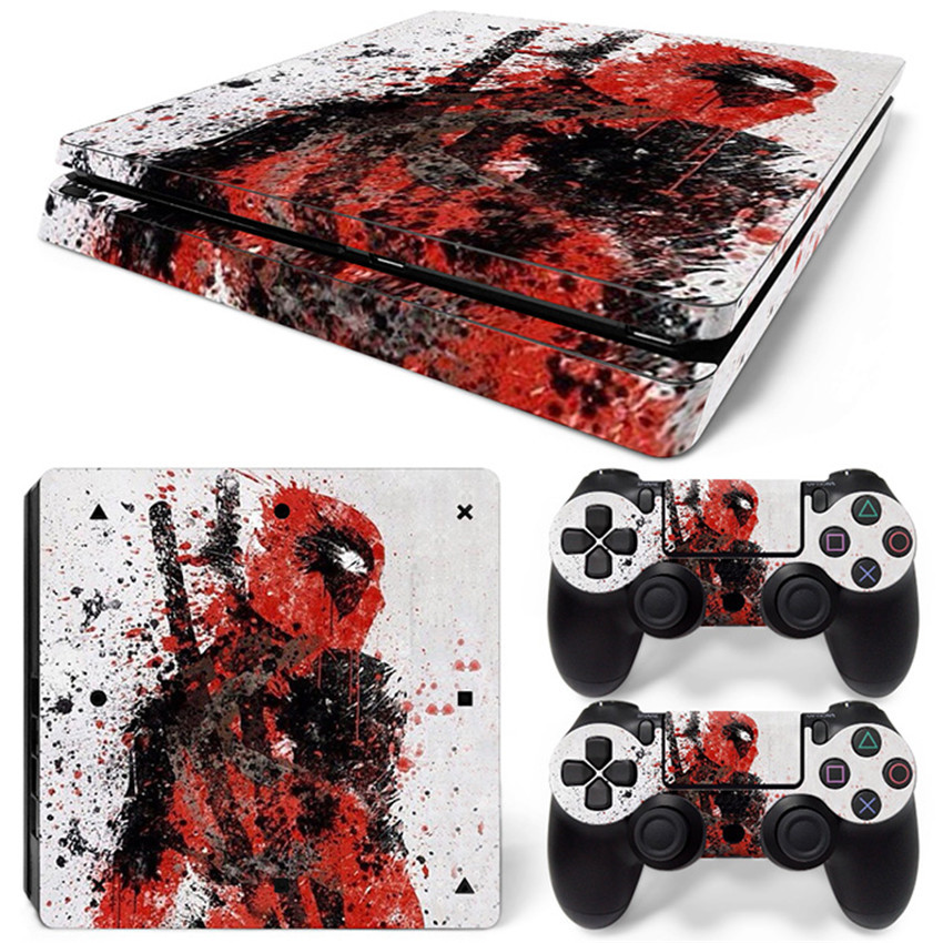 Professional Games Host Skins Controller Stickers PS4 Slim Deadpool Tags for Playstation 4 Slim T-PS4-Slim-013