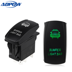 ADPOW 5 Pin Carling Style LED Light Bar Toggle Rocker Switch SPST ON-OFF Waterproof Rocker Switch for Boat Car Truck 12V