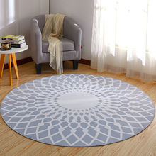 EHOMEBUY Modern Carpet Geometric Round Anti Slip Bedroom Living Room Floor Decoration Children Game Rug Circle