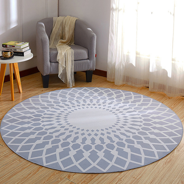 Exceptionnel EHOMEBUY Modern Carpet Geometric Round Carpet Anti Slip Bedroom Living Room  Floor Decoration Children Game Rug