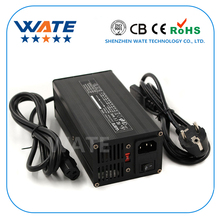 Умное зарядное устройство LiFePO4, 29,2 в, 12 А, 8S, 24 В, с вентилятором, алюминиевый чехол, аккумулятор для электрической Коляски робота