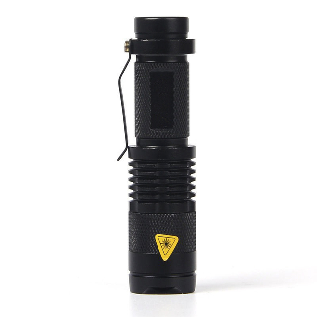 5 Colors CREE Q5 2000 Lumens Aluminum alloy Cree led Torch Zoomable Cree Waterproof LED Flashlight Torch Light