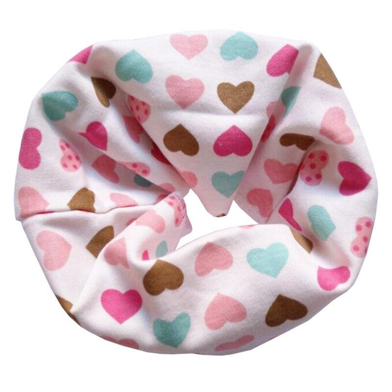 Новинка; Модный хлопковый шарф для маленьких девочек; осенне-зимний шарф для маленьких мальчиков; Детский шарф с круглым вырезом; Детские шарфы; волшебный шейный платок - Цвет: Love Heart