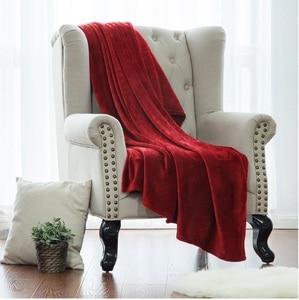 Image 4 - Blanket White Microfiber Fabric Throw Blanket Warm Coral Blankets Travel Flannel Sofa Fleece Blankets For Bed Warm Cobertor