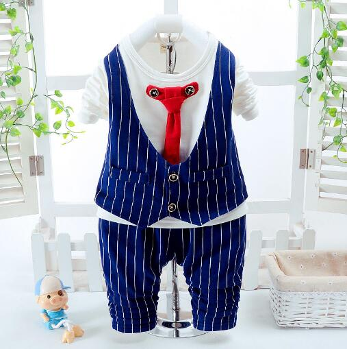 Baby Boy Bodysuit Outfit Spring Kids Clothes Striped Vest Shirt Pants Bow Tie 2pcs Christening Birthday Wedding Party 2pcs children outfit clothes kids baby girl off shoulder cotton ruffled sleeve tops striped t shirt blue denim jeans sunsuit set