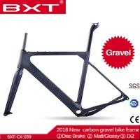 2018 חדש הגעה BXT מסגרת Aero כביש או אופני הרים S/M/L גודל דיסק מסגרת Cyclocross פחמן אופני מסגרת חצץ QR או דרך סרן