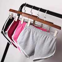 Women Short Pants Casual Ladies All-match Loose Solid Soft Cotton Leisure Female Workout Waistband Skinny Stretch Shorts