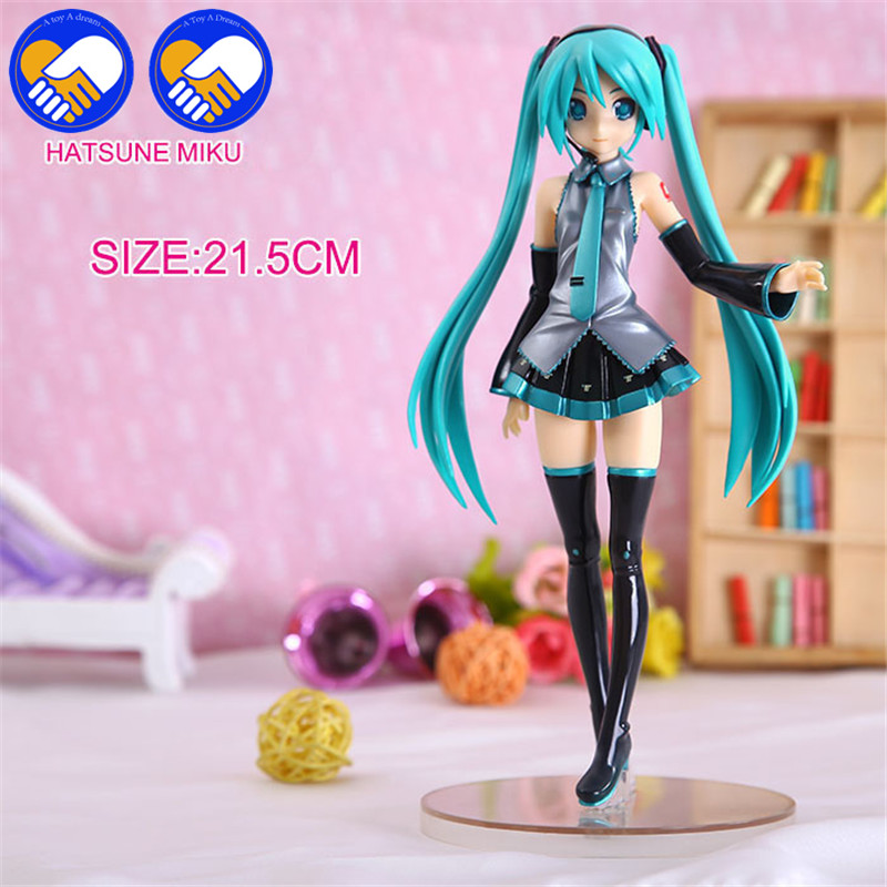 A TOY A DREAM Hatsune Miku Figma Uniform 2015 PVC Action Figure Collectible Model Toy 22CM 2017 new hatsune miku figma pvc action figure collectible kids model toy 14cm dcy017 anime juguetes hot sale free shipping