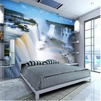 Custom Wallcovering Non Woven Thickening Ultra Clean Water Health Choi Waterfall TV Backdrop Environmental Wallpaper