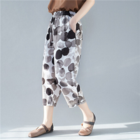 Dot Harem Pants Casual Women's Trousers Leisure Capris Cotton Hemp Pantalon Femme Womens Sweatpants Vintage Korean Pants