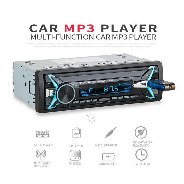 1012 Draadloze Carkit Multifunctionele Bluetooth Voertuig MP3 Speler U Disk speler 3.5mm AUX FM Radio Audio Adapter Auto lader