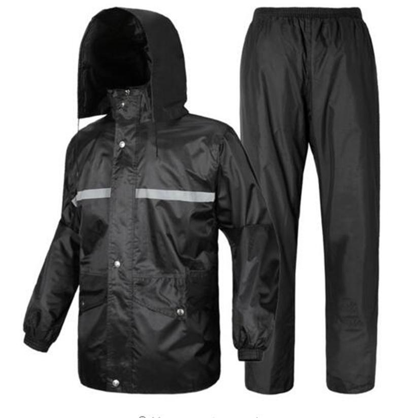 2019 NEW Motorcycle Waterproof Fashion Raincoats Men And Women Fission Rain Suit Double Layer Electric Bicycle Thickening Cloth